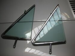 Wind Wing Set L/r Mercedes 115 250c And03971 / Nice Chrome / Tinted Glass D51