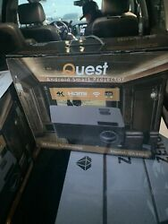 Quest Projector 4k Bundle 72and039 Black Diamond Screen Ceiling Mounts In Box