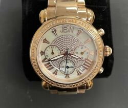 Jbw Rose Gold Women's Victory Marble Faced Watch Jb-6210-k