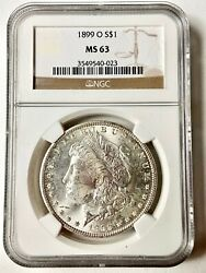 Wow__1899-o Ngc Ms-63 U.s. Morgan Silver Dollar- 5 Available, See Coins And Gold