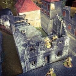 Wwii Terrain - French Townhouse Ruins 28mm - Flames Of War Bolt Action