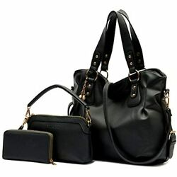 Purse And Wallet Set Women Large Hobo Bags Female Fashion Tote Shoulder Wallets $56.92