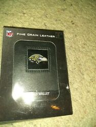 Baltimore Ravens Fine Gain Leather Trifold Wallet