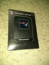 New England Patriots Fine Gain Leather Trifold Wallet