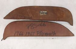 1966 1967 Plymouth Belvedere Fender Skirts Foxcraft Pbs 66 Plymouth Pair Steel
