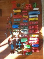 St6 Vintage Car Toy Lot Lesney Tootsietoy Boats Wooden Manoil Sun Rubber Metal