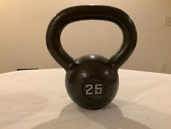 25lb Kettlebell Weight Pound Cast Iron Fast Free Shipping