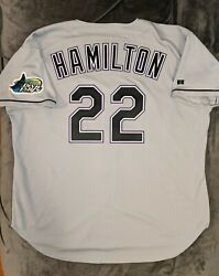 Josh Hamilton Russell Athletic Authentic Tampa Bay Devil Rays Jersey 52 Rangers
