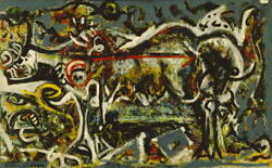 Jackson Pollock The She-wolf Canvas Print Paintings Poster Giclee Canvas Print