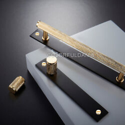 1pcs Brass Knurled/conceal Install Gold Black Handles Cupboard Cabinet Pulls Bar