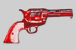 Andy Warhol Gun Giclee Canvas Print Paintings Poster Reproduction Copy