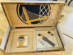 Limited Edition Golden State Warriors Gsw Watch - 18k Gold Plated 226/500