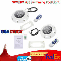 Underwater Rgb Led Lights Fountain Swimming Pool Hot Tub Spa Lamp W/ Remote 9/24
