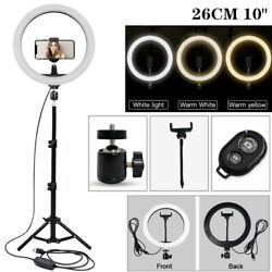 Led 12 In Ring Light With 1.6m Tripod Stand Photo Video Tik Tok Bluetooth Remote