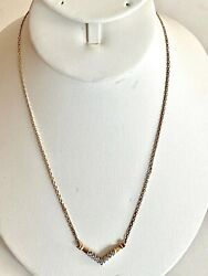 Solid 14k Yellow Gold Diamond Necklace, See Other Gold Jewelry And Coins