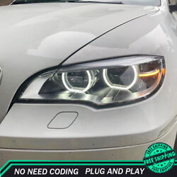 For Bmw X6 E71 Headlights 2008-2015 Full Led Projector Led Drl Turn Signal