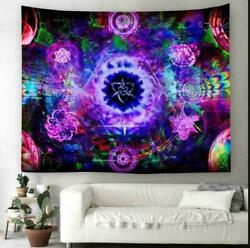 USA Psychedelic Mandala Tapestry Wall Hanging Trippy Tapestries Throws Art Decor