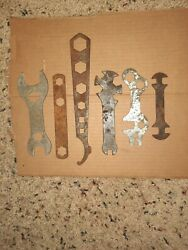 Lot Of 6 Antique Tractor Plow Buggy Implement Wrenches Old Vintage Farm Tools