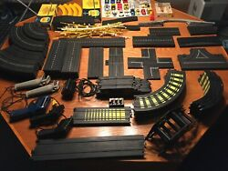 Vintage Mixed Ho Slot Cars Track Controllers Power Several Original Boxes