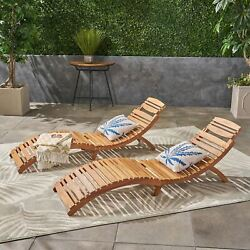 Lisbon Outdoor Folding Chaise Lounge Chair Set Of 2