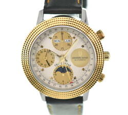 △ Universal Genve Tricompax Chronograph Moon Phase Automatic Menand039s T100804