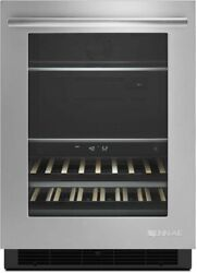 """Jenn-air Euro-style 24"""" Ss Under Counter Beverage Refrigerator Jub24frers"""