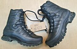 New Meindl German Army Sf Issue Black Leather Goretex Combat Boots Size 8.5 Uk