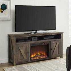 Ameriwood Home Farmington Electric Fireplace Tv Console For Tvs Up To 60, Rusti