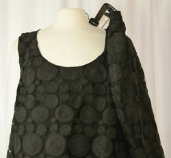 Barbara Bates Sz 14-16/ 2xl Black Skirt And Top Mesh Overlay Scalloped Embroidered