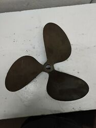 18x18. Pitch Bronze Prop/propeller 1-1/4 Inch Shaft Used