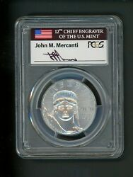 2020 Us Platinum Eagle 100 Pcgs Ms70 Statue Liberty First Day J Mercanti Signed