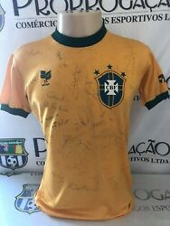 Brazil 80and039s Topper Nandordm 14 Match Worn All Signed