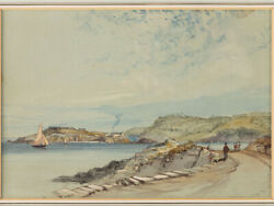 Nicholas Condy Topographical Watercolour Painting Drakeandrsquos Island Plymouth