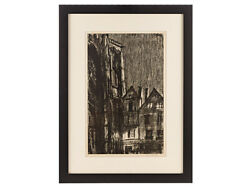 Sir Muirhead Bone Wwi Artistandrsquos Proof Military Lithograph Rouen Cathedral