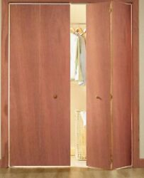 Bifolding closet doors with hardware