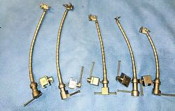 Set Of 5 Aesculap Surgical Orthopedic Neuro Retractor Flex Arms Table Clamps