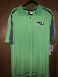 Antigua NFL Seattle Seahawks Athletic Polo Shirt Action Green Size XL $25.00