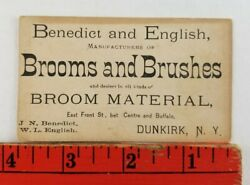 Vintage 1900's Brooms And Brushes Dunkirk New York Business Card