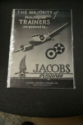 Jacobs Aircraft Engines Wwii Magazine Ad