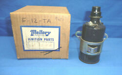Vintage 1960's Nos Mallory 12v Ignition Coil Ct31