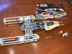 Lego 7658 Star Wars Y-wing Fighter 100 Complete W Minifigures Instructions Euc