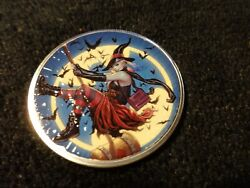 2021 Silver Eagle Colorizedhappy Halloween With Harley Quinn Very Nice 1 Of 25