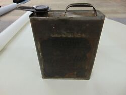 Vintage Early 1gal Socony Motor Oil Tin Litho Can Standard Oil Co Of New York