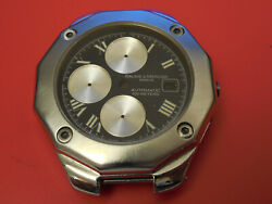 Baume Mercier Steel Jumbo 42mm Riviera Automatic Chronograph Case And Dial