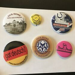Indiana Colts German Soldiers Mt. Vernon Lot Pin Pinback Button Vintage H3