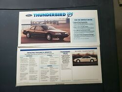 1993 Ford Thunderbird Dealer Showroom Poster Print Display Lx Super Coupe Rare