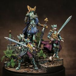 The Flower Knight - Kingdom Death Monster. Plastic 54mm. Painted Diorama.