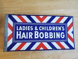 Barbershop Double-sided Flange Ladies And Children Hair Bobbing Barber Sign