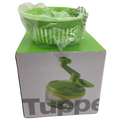 Tupperware Quick Chef Pro System Time Saver Chopper Blade Whisk Basket In Green