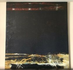 Huge 52quot; by 56quot;quot; Abstract Modern Minimalist Painting Wall black Art dwr cantoni